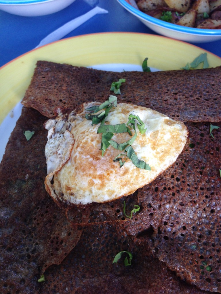 La Creperie fried egg